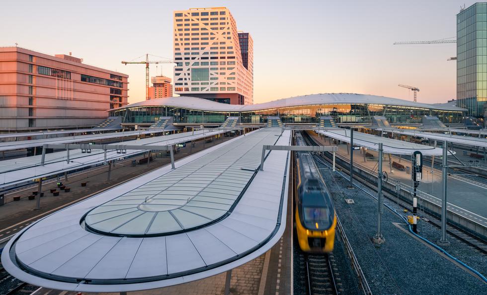 Dworzec kolejowy Utrecht Centraal w Holandii