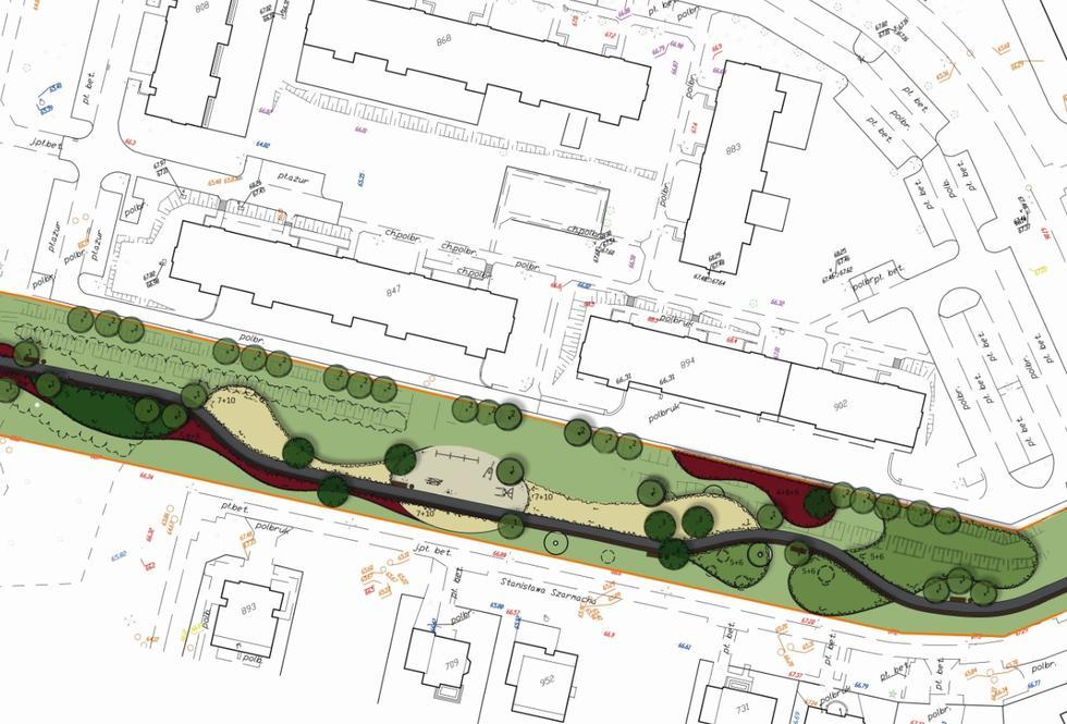 Słupskie kliny zieleni – nowe parki linearne w Słupsku
